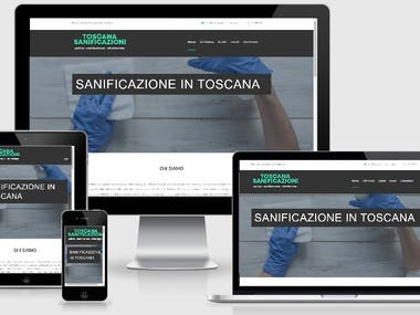 Sito web Toscana Sanificazioni