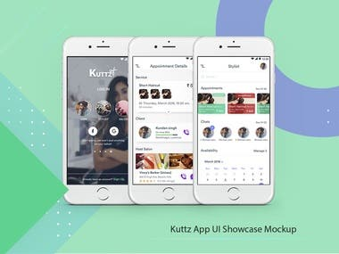 UI/UX Design For Kuttz App