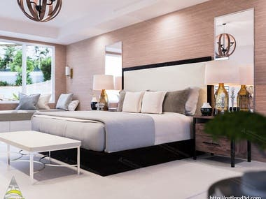 Bedroom Design & Realistic Rendering