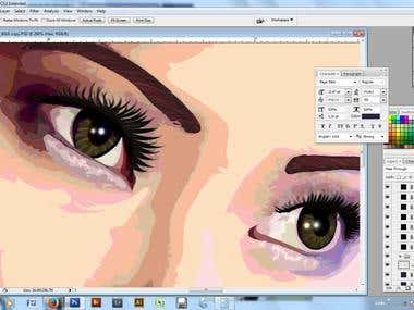 Vector Based Photoshop rendered image