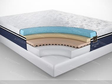 Mattress/Pillow Modeling & Rendering