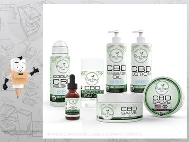 CBD Products Labels