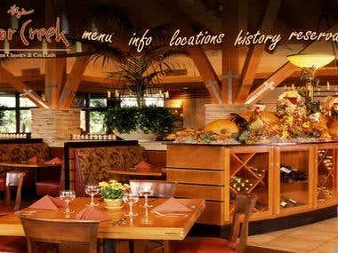 A website for Cedar Creek Inn
