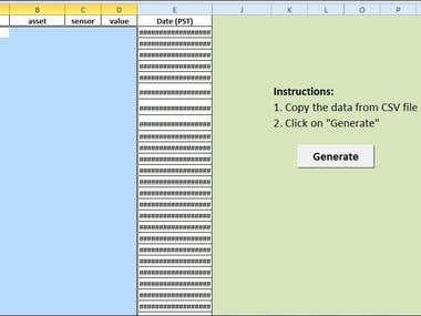 Screenshot of Completed Project for Fumigation Graph
