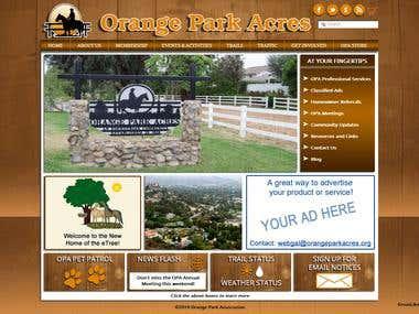 A website developed for Orange Park Acres