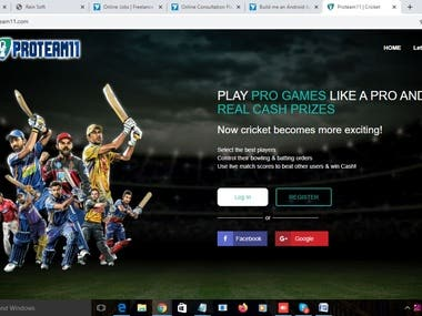 This website Clone of Dream11 ( PHP )