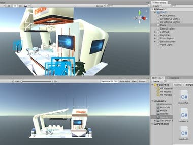 Unity and Aframe Virtual Reality Booth Navigation