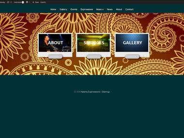Create three box wordpress site( www.neenaexpressions.com)