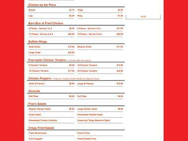 Online Ordering System - Restaurant Project