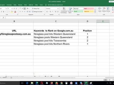 myfibreglasspooleasy.com.au Google.com.au Ranking Results