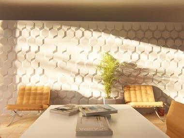 Concrete interior tile new design