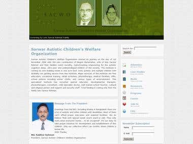 Website Development of SACWO