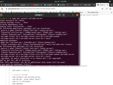 I have Installed MariaDB on Ubuntu 20.04 LTS