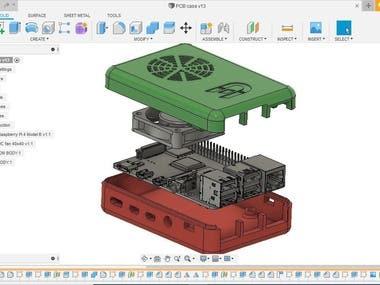 PCB enclosure using Fusion 360
