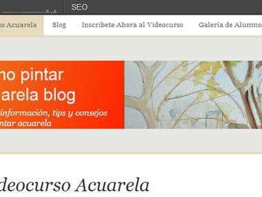 Seo en Aprendercuarela.com