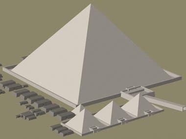 Egyptian Piramyds 3D Mockup