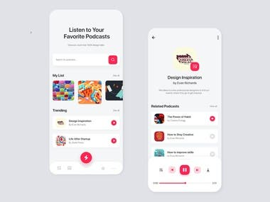 Podcast App Design