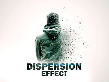 DISPERSION EFFECT in PHOTOSHOP