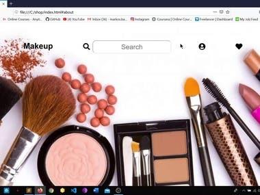 Makeup Website