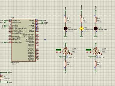 pic16f877a system control simulation