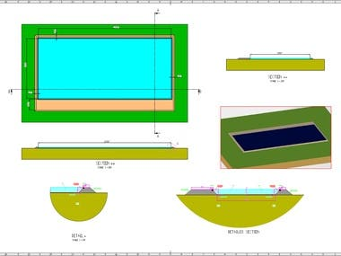 Detailed Section for a Reservoir