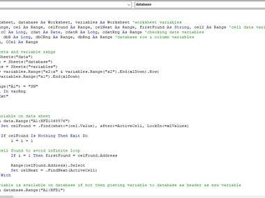 Macro VBA - Data processing