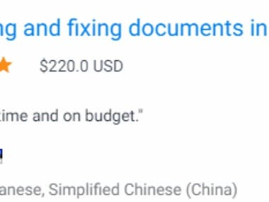 Proofreading and fixing documents in Chinese and Japanese