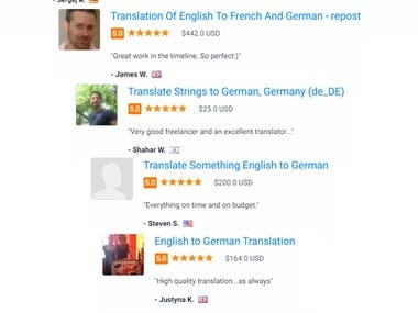 English to German & German to English Translation project