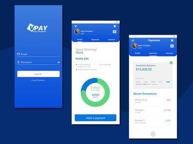 Payments Mobile App UI/UX