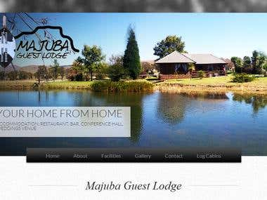 Majuba Guest lodge - Website