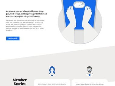 Rookie Fitness Project ( PSD to WordPress using Elementor )