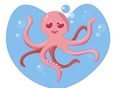 """"""" Octopus in love"""""""