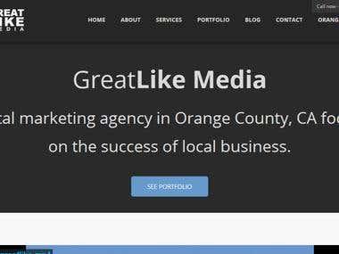 Website developed for GreatLike Media