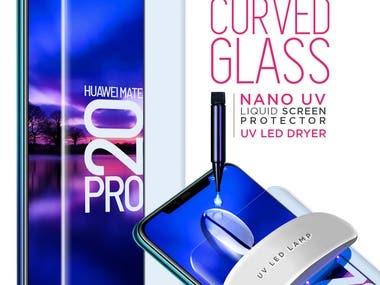 Infographics of Nano Liquid, Protective Glass.