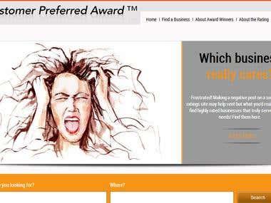 Website Developed for Customer Preferred Awards