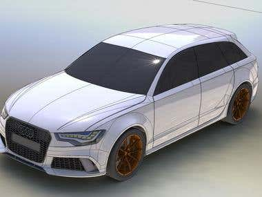 Audi RS6 Solid Works
