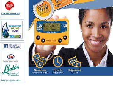 Website for Parking Meter online recharge