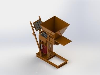 Design a Manual Hydraulic Brick Machine