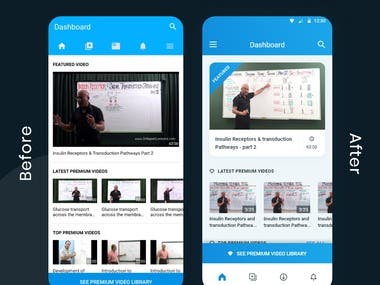 Medical app redesign