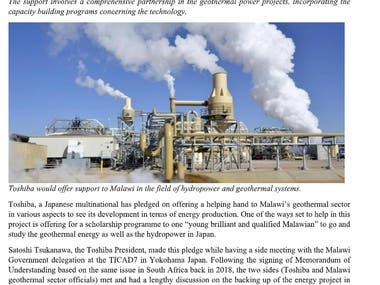 Article - Malawi's Geothermal Energy Sector