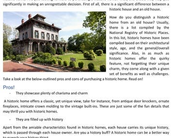 Article - Why you should consider buying a HISTORIC HOME