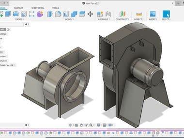 Industrial Centrifugal Fan 3D model