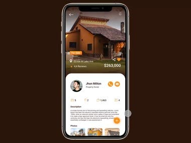 Real estate app / UI Motion Figma