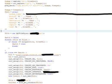 Facebook auto update script
