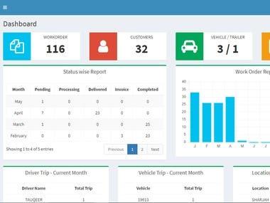 PHP MYSQL, Transport Company Web Application