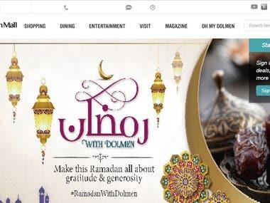 An E-commerce website of dolmenshopping mall