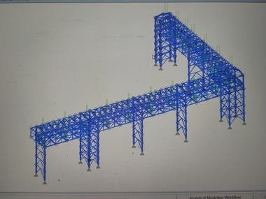 Pipe Support Trestle Tower Bridge & Piperack Design & Detail