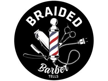 Braided Barber Tells Logo