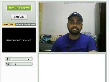 Expertbooth Audio Video Chat application