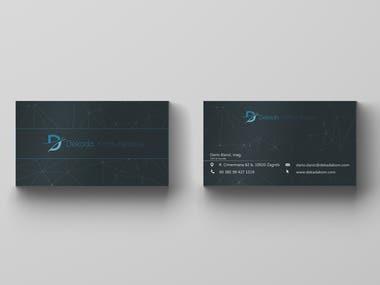 Dekada company business card